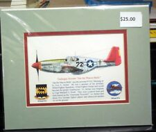 Tuskegee Airmen Lee Archer's P-51 Matted 8X10 Print by Willie Jones Jr