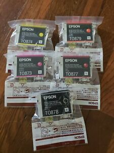 New Genuine Epson 87 Cartridges T0874 T0879 T0873 T0877 T0878 - Free Shipping