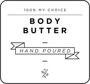MINI Body Butter Decal - White (removable/ reusable/ waterproof label)