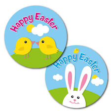 Happy Easter Stickers - 30mm - crafts,cards, schools, shops - 144 in pack