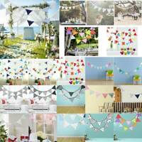 3.2M 12 Flags Cotton Bunting Banner Pennant Garland Wedding Birthday Party Decor