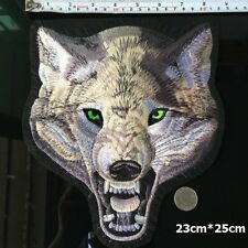 Big Wolf Head Badge Embroidery Sew On Iron On Patch Clothes Applique  DIY Craft