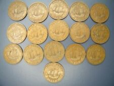 More details for 1937 to 1952 george vi - bronze halfpenny   full set of coins !