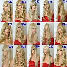 SANDY BLONDE Long Curly Straight Wavy Women Costume Long Fashion Party Full WIG