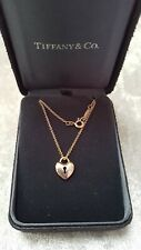 GENUINE 18 CT ROSE GOLD TIFFANY & CO HEART LOCKET WITH CHAIN