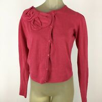 Cabi women's cardigan sweater Size small pink cotton cashmere