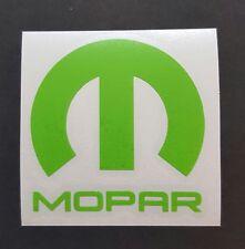 "Mopar Vinyl Decal Sticker Dodge Jeep, 5""X5"" DIE CUT. LIME GREEN"