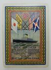 Vintage GREAT NORTHERN STEAMSHIP CO Playing Card A193
