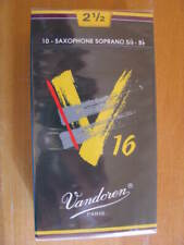 Vandoren V16 Sopransaxophonblätter Stärke 2,5, EINZELBLATT