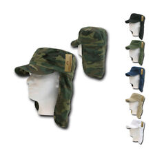 RapidDom Foreign Legion Flap Flat Top Cotton Military BDU Fishing Boat Caps Hats