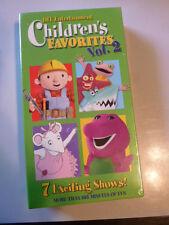VHS Children's Favorites #2 Children  104 Minutes Sealed Unopened New Tape