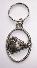 DEVIL PIG BOAR PEWTER KEY RING, ideal for Keys, Bags, Collectables (XTSBKKA69)