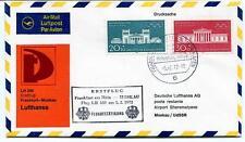 FFC 1972 Lufthansa First Flight LH 340 Frankfurt Moskau USSR Moskow