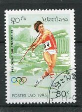 LAOS, 1995, timbre 1174, SPORT, JEUX OLYMPIQUES, JAVELOT, oblitéré