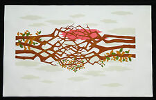 "1981 HAWAII ABSTRACT PRINT 18/300 ""ENTWINED TREES"" by SATORU ABE (Ha)"
