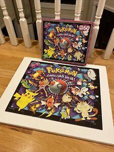 Pokemon jigsaw puzzle 60 1999 MB rare Vintage 90s Gotta Catch Em All