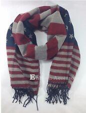 "USA Flag Stars Stripes Fashion Scarf Shawl Wrap 26"" x 70"""