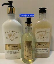 Bath Body Works Aromatherapy Peaceful Tea Tree Peppermint Body Wash Lotion Mist