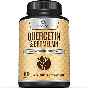 Sunergetic Premium Quercetin & Bromelain Supplement - 60 Capsules