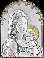 Quadro Madonna Con Bambino Argento, Capezzali Moderni, Icone Sacre Argento