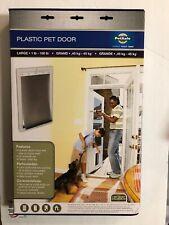 PetSafe Plastic Pet Door White, Large 1-100 pounds NEW!