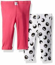 Flapdoodles Baby 2 Pack Girls Printed and Solid Legging 12m