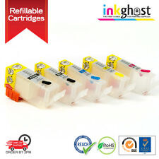 Empty Refillable Cartridge set compatible with  CANON PGI-520BK CLI-521 Ip4600