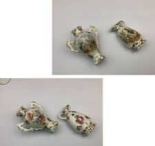 Antique porcelain decorative jug + vase gilt Large dolls house handpainted?