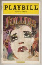 "Bernadette Peters  ""Follies""  Playbill 2011 Revival Danny Burstein, Elaine Paige"