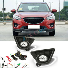 For Mazda CX-5 13-16 Clear Lens Pair OE Fog Light Lamp+Wiring+Switch Kit Switch