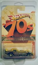 70S DECADES CARS FUNNY 77 2011 CHEVY CORVETTE YELLOW DRAG VETTE HW HOT WHEELS