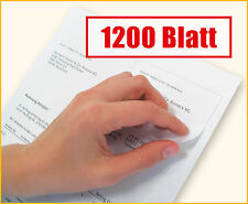 1200 Blatt Rechnungspapier mit integriertem Etikett / Papier mit Etikett