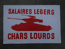 Affiche mai 68 SALAIRES LEGERS CHARS LOURDS french original poster 1968