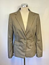 BRAND NEW LK BENNETT EX SAMPLE TAUPE WOOL SUIT JACKET SIZE 10