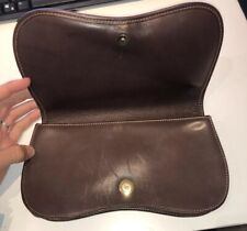 Ghurka Vintage Brown Leather Snap Closure Pouch