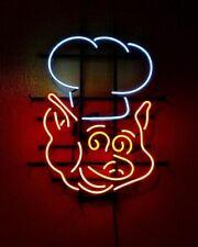 "New Pig Chef Bbq Open Shop Open Beer Bar Neon Light Sign 24""x20"""