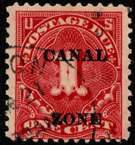 Canal Zone - 1924 - 1 Cent Carmine Rose Postage Due # J12 Used Fine Nice Stamp
