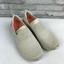 Skechers Womens Ultra Flex Flat Knit Slip On Shoes Harmonious Neutral Ivory 8.5W