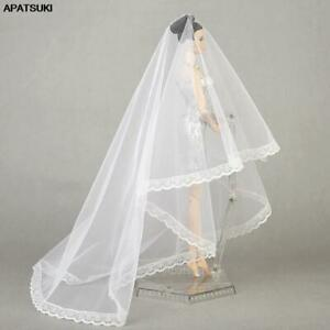 "Handmade Long Veil Bridal Wedding Veils For 11.5"" 1/6 BJD Dolls Accessories Toys"