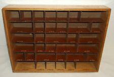50er 60er  Sortierkasten Philips Service für Roll-Kondensatoren Holz Kiste 60s