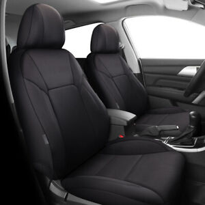 Car Seat Covers Leatherette Black Universal Car Truck SUV Airbag Safe Front Set