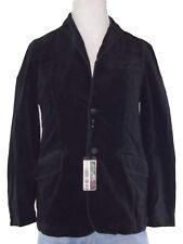 benetton giacca blazer uomo velluto nero 2 bottoni taglia it 46 s small