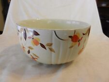 "Ceramic Bowl Autumn Leaf Pattern Mary Dunbar Halls Superior 7.5"" Diameter"