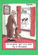 Christmas Holiday Cards Nobleworks Grandma Got Run over by a Reindeer