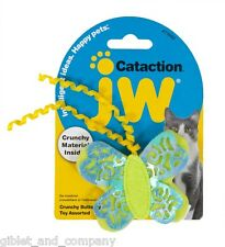 JW PET CRUNCHY BUTTERFLY CAT TOY Cataction Crinkle Material Shiny Iridescent