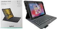 Logitech Universal Wireless Keyboard Folio Cover Case w/ Pencil Holder iPad 2019