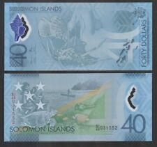SOLOMON ISLANDS: P#37 40 Solomon Island Dollar Commemorative Banknote.