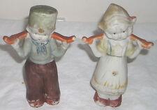 """Vintage 5"""" Dutch Boy & Girl Bisque Figurines Japan"""