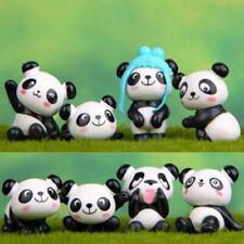 8Pcs/set  Micro Landscape Resin Panda Cute Figures Statuettes Decor IT