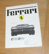 Ferrari Range Brochure 1974 - BB 365 GT4 2+2 Dino 308 GT - UK Market